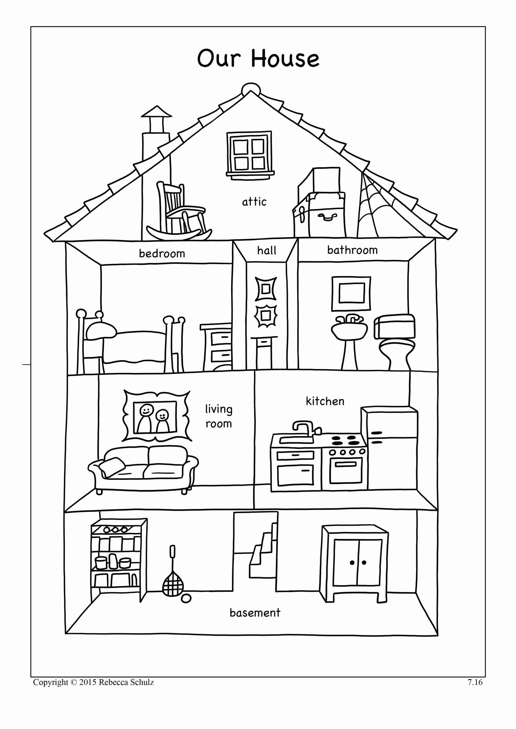 Parts Of the House Worksheets for Preschoolers Fresh Resultado Imagen Para Worksheets Parts the House Con