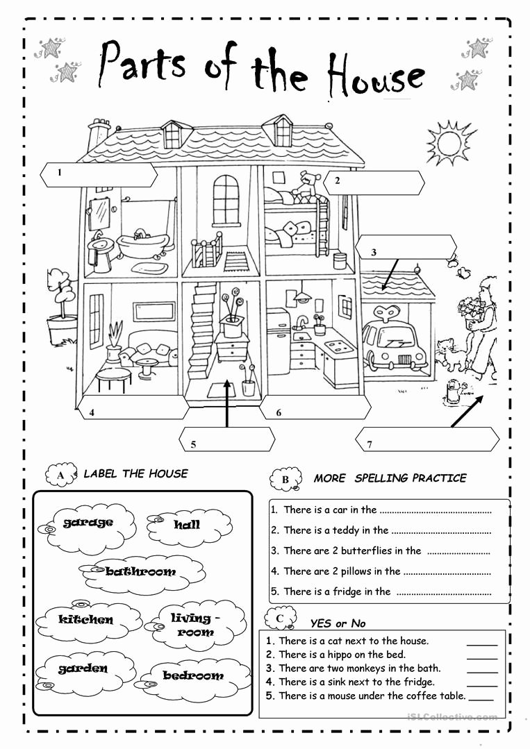 Parts Of the House Worksheets for Preschoolers Lovely Google Image Result In 2020
