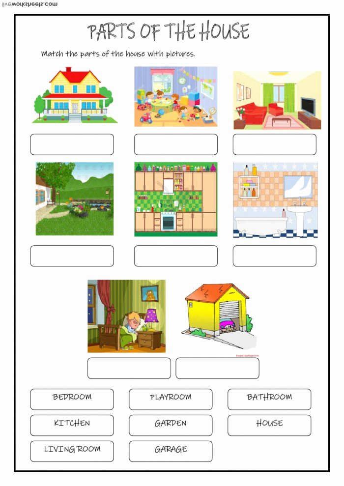 Parts Of the House Worksheets for Preschoolers Unique Parts A House Worksheets