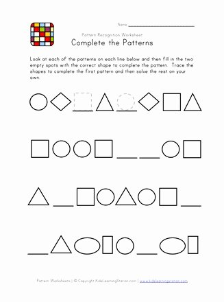 Patterning Worksheets for Preschoolers Inspirational Difficult Pattern Recognition Black and White Worksheet 2