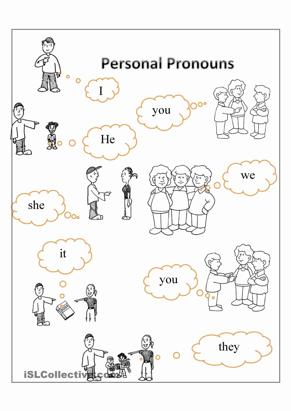 Personal Pronouns Worksheets for Preschoolers Awesome Personal Pronouns