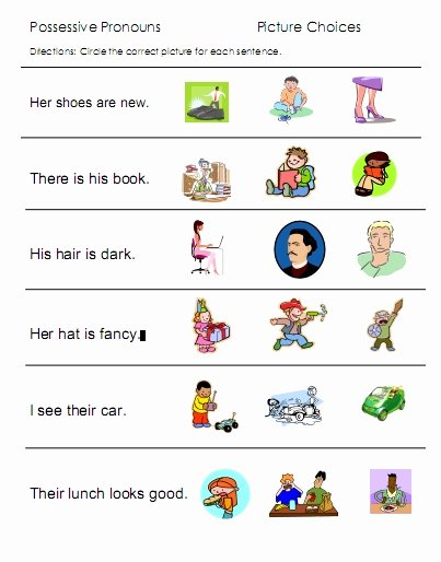 Personal Pronouns Worksheets for Preschoolers Inspirational Possessive Pronouns His Her Worksheets Worksheet Games to