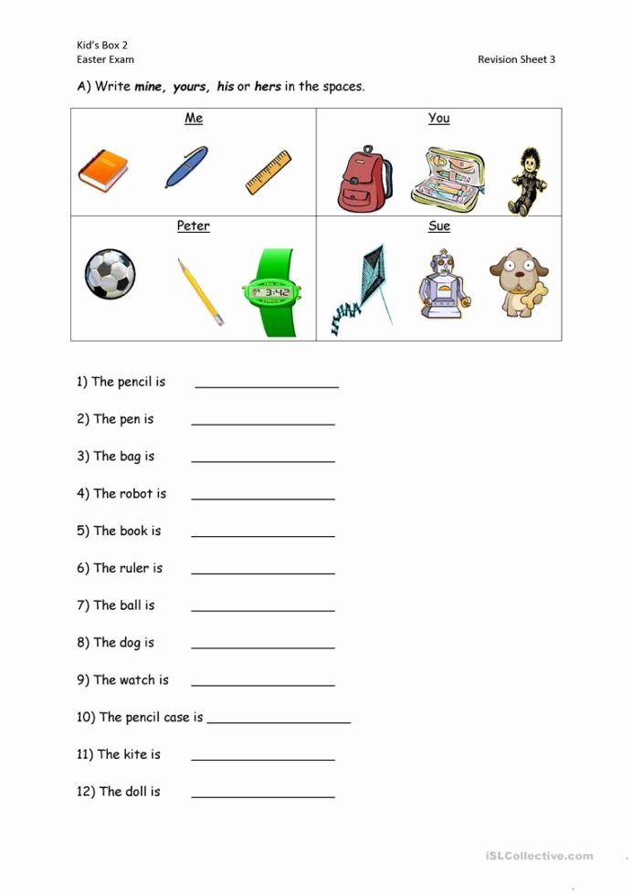 Personal Pronouns Worksheets for Preschoolers Lovely Algebra Math Calculator English Possessive Pronouns