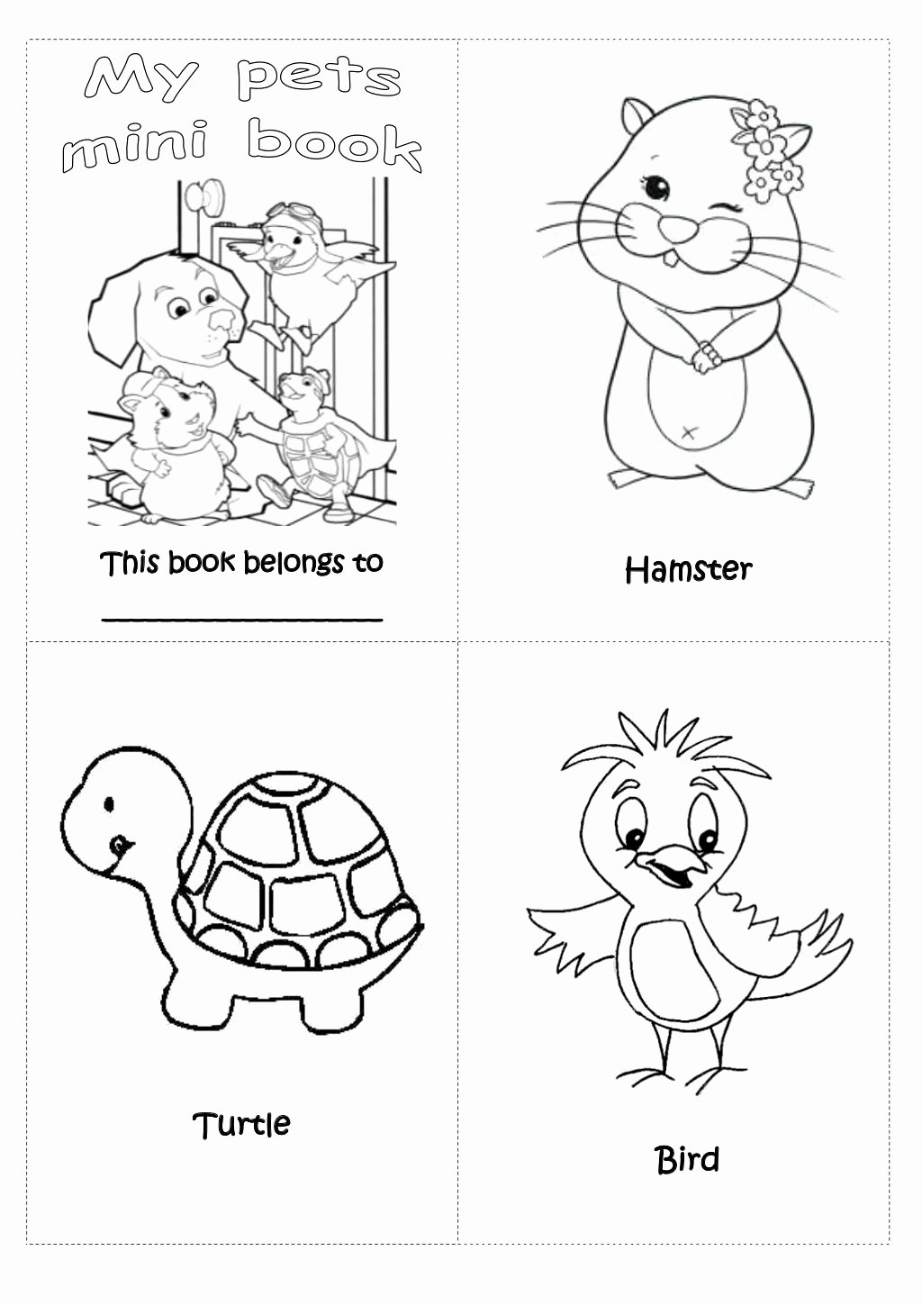 Pet Worksheets for Preschoolers Lovely Counting Pets Worksheet