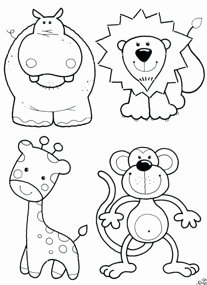 Pet Worksheets for Preschoolers Lovely Lets Coloring Zoo Animals Sheets Free Baby Animal Worksheets