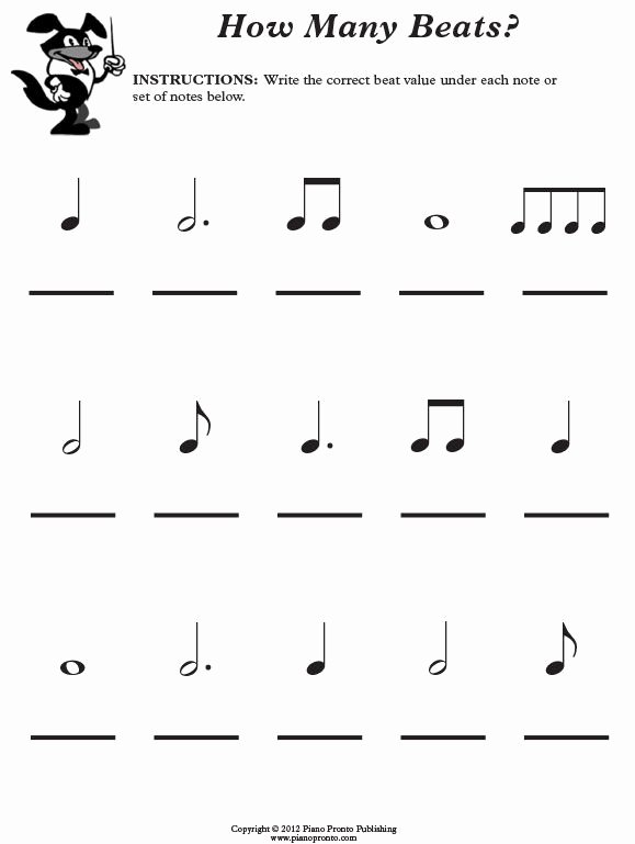 Piano Worksheets for Preschoolers Fresh Free Music theory Worksheet Piano Pronto