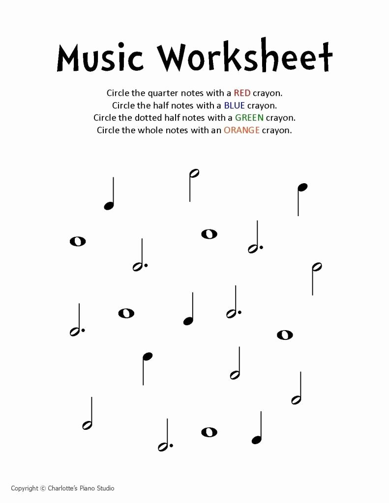 Piano Worksheets for Preschoolers Fresh Music Worksheet Charlottes Piano Studio Lessons In West