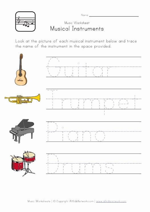 Piano Worksheets for Preschoolers Fresh Music Worksheets for Kids