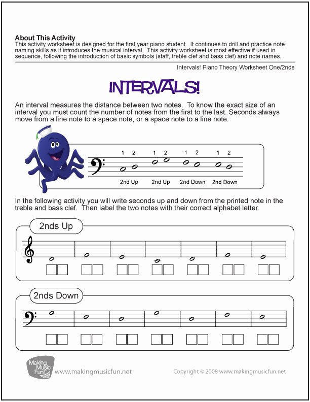 Piano Worksheets for Preschoolers New 10 Music theory Worksheets and Games for Kids – Bluebird