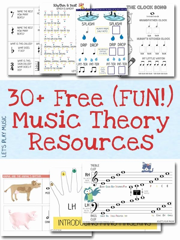 Piano Worksheets for Preschoolers New Free Resources Free Sheet Music and theory Printables