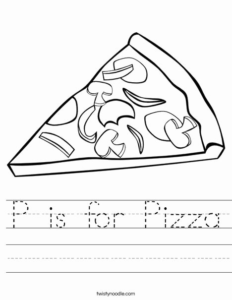 Pizza Worksheets for Preschoolers Inspirational P is for Pizza Worksheet
