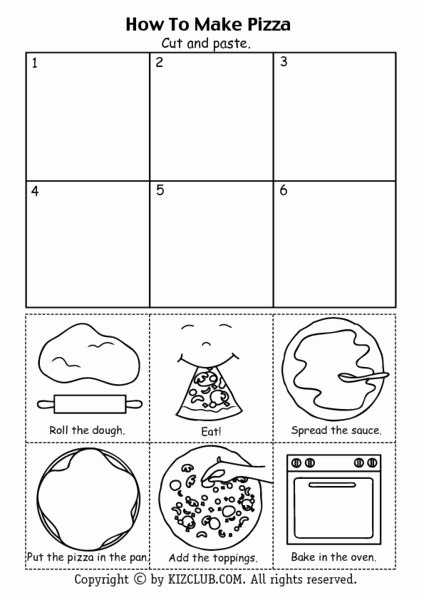 Pizza Worksheets for Preschoolers Lovely How to Make Pizza Worksheet In 2020