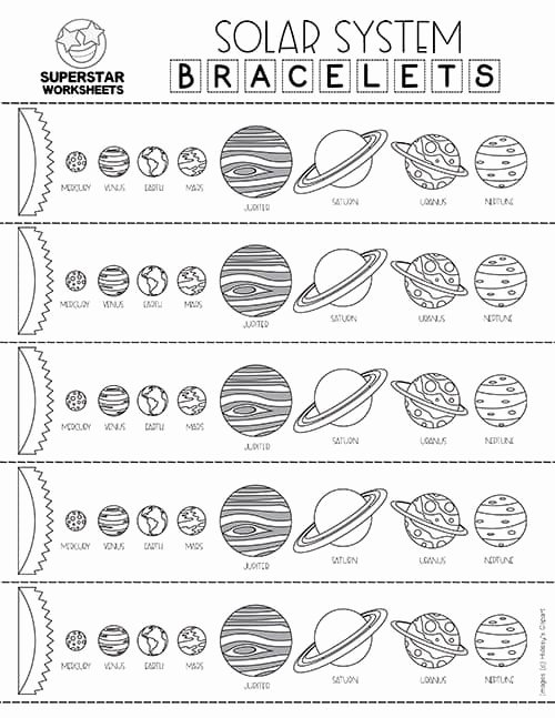 Planet Worksheets for Preschoolers Beautiful solar System Worksheets Superstar Worksheets