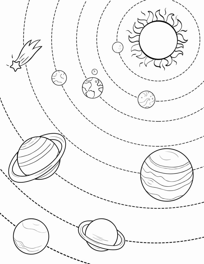 Planet Worksheets for Preschoolers Inspirational Worksheet Coloring Free Outer Space Planets Preschool