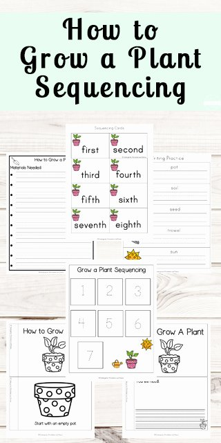 Plants Worksheets for Preschoolers New Free Grow A Plant Sequencing Worksheets