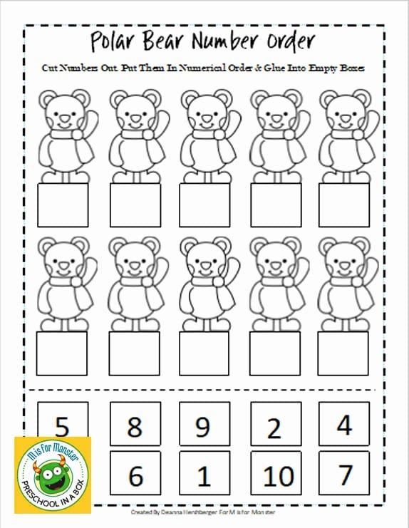 Polar Animal Worksheets for Preschoolers Fresh Polar Bear Math Printables for Preschoolers to Teach Math
