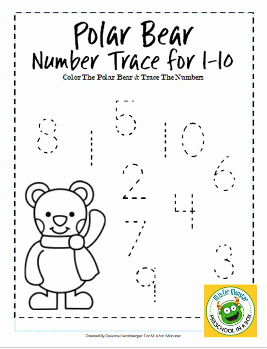 Polar Animal Worksheets for Preschoolers top Polar Bear Math Printables for Preschoolers to Teach Math