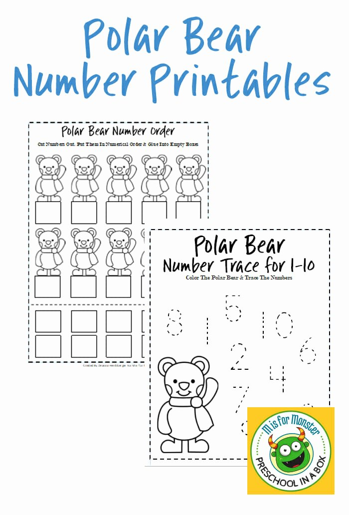 Polar Bear Worksheets for Preschoolers Best Of Polar Bear Math Printables for Preschoolers to Teach Math
