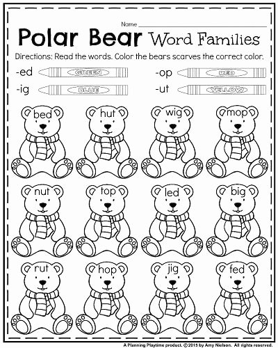 Polar Bear Worksheets for Preschoolers Lovely January Kindergarten Worksheets