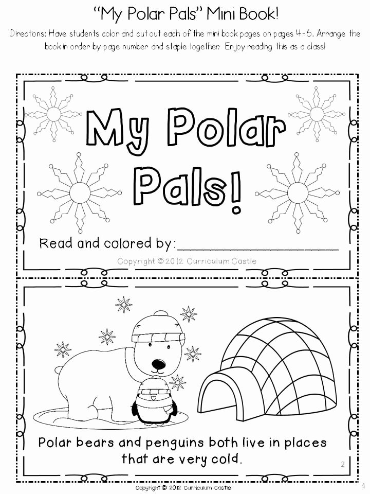 Polar Bear Worksheets for Preschoolers Lovely Polar Bears and Penguins A Polar Region thematic Unit