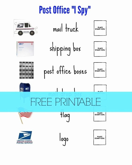 "Post Office Worksheets for Preschoolers Awesome Post Fice ""i Spy"" for Preschoolers"