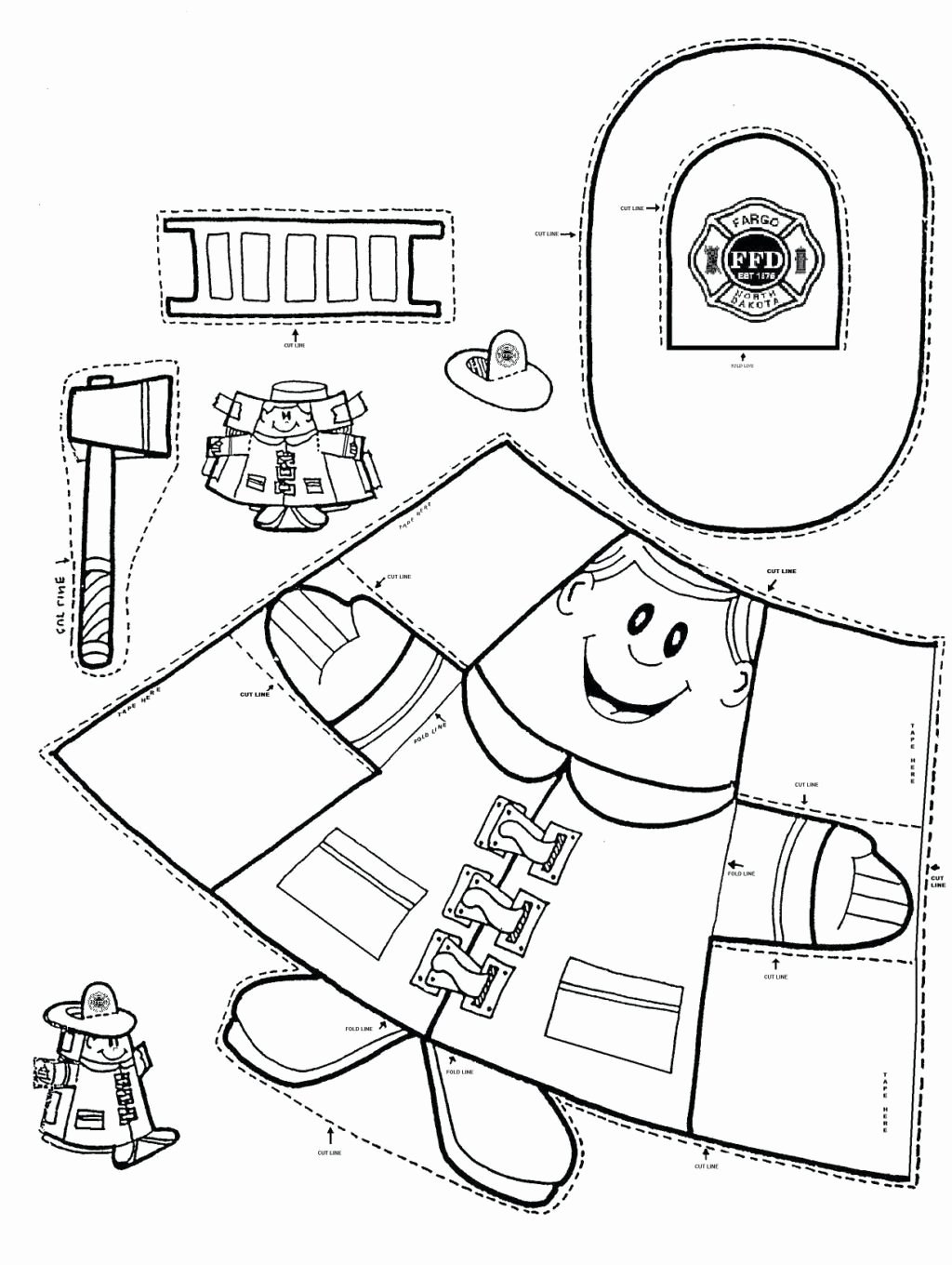 Post Office Worksheets for Preschoolers Fresh Worksheet Coloring Pages Fire Safety Coloringges Free Post