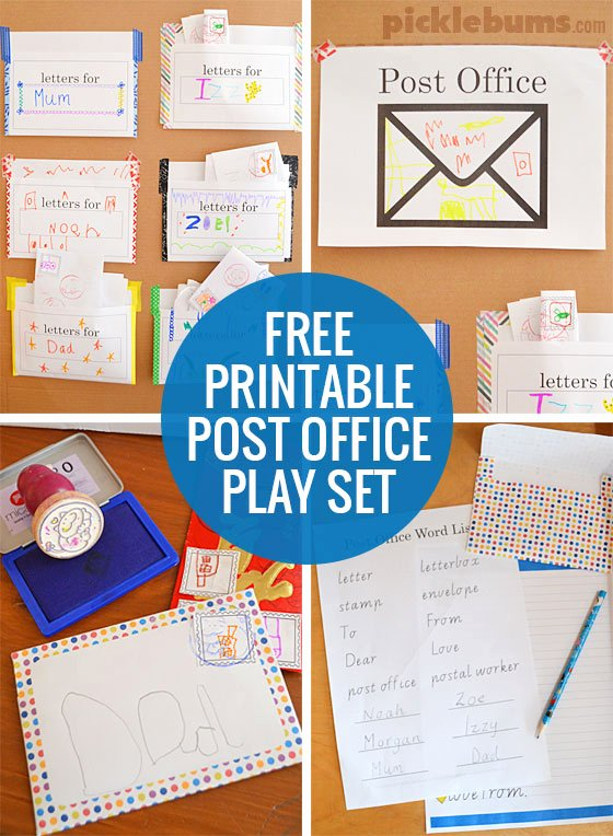 Post Office Worksheets for Preschoolers Inspirational Post Fice Play Free Printable Set Picklebums Worksheets
