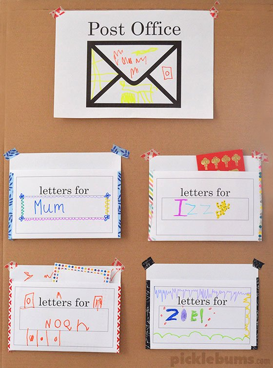 Post Office Worksheets for Preschoolers Lovely Post Fice Play Free Printable Set Picklebums Worksheets
