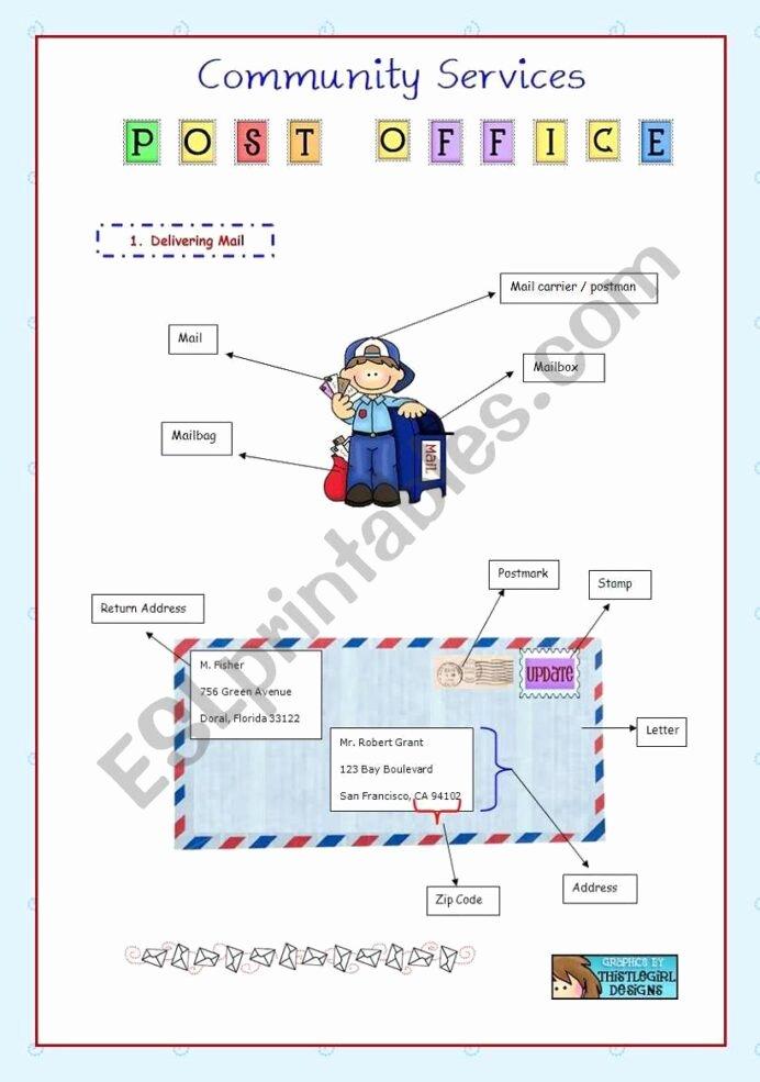 Post Office Worksheets for Preschoolers New Christmas Worksheets Ks3 Free Printable Post Fice