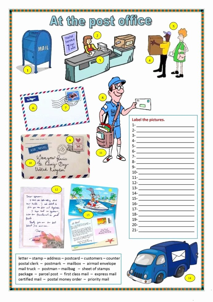 Post Office Worksheets for Preschoolers New Fice Worksheets Kids Activities Free Printable Post at the