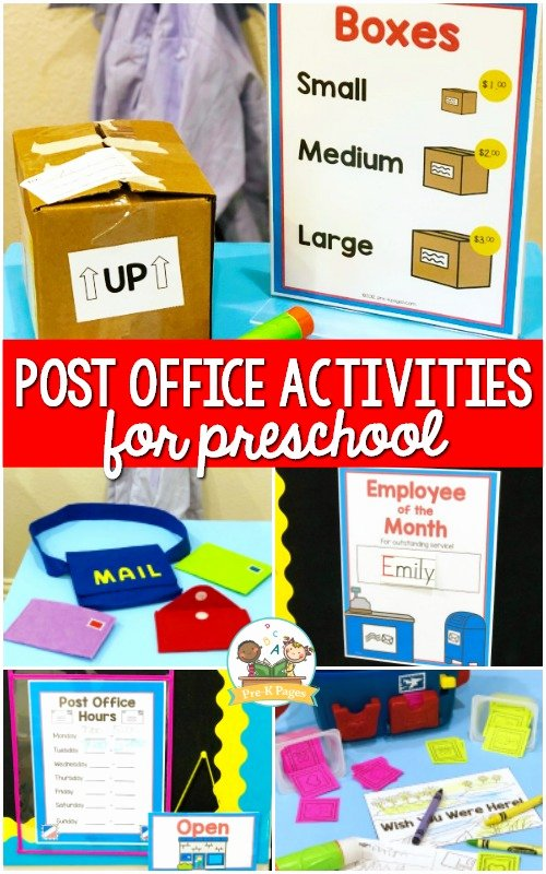 Post Office Worksheets for Preschoolers Unique Post Fice and Mailing Activities for Preschool Pre Free
