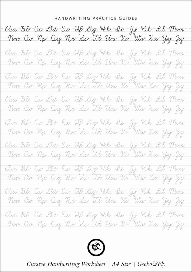 Practice Handwriting Worksheets for Preschoolers Beautiful Math Worksheet Splendi Alphabet In Cursive Printable