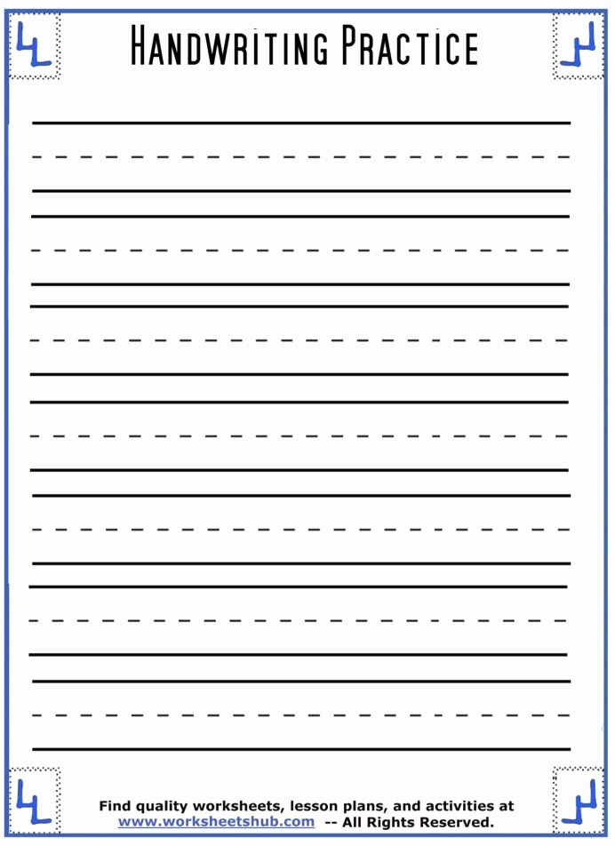 Practice Handwriting Worksheets for Preschoolers Lovely Handwriting Sheets Printable Lined Paper Print Worksheets