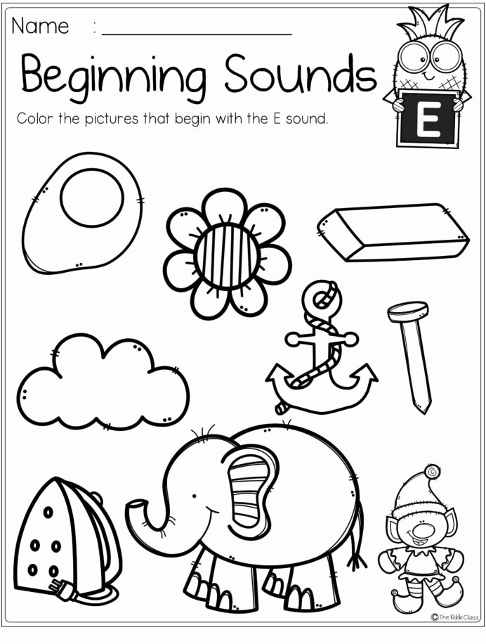 Practice Letter Worksheets for Preschoolers Awesome Alphabet Beginning sounds Printables Letter Worksheets for