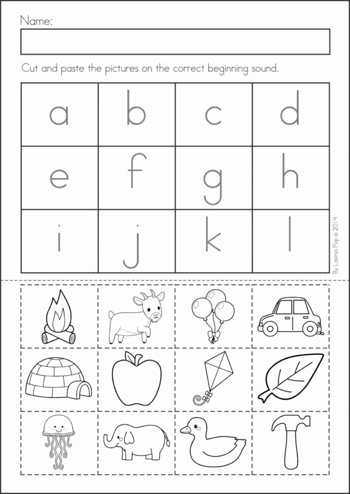 Pre K Printable Cutting Worksheets for Preschoolers Awesome Pin Alphabet Activities Cut and Glue Worksheets Free