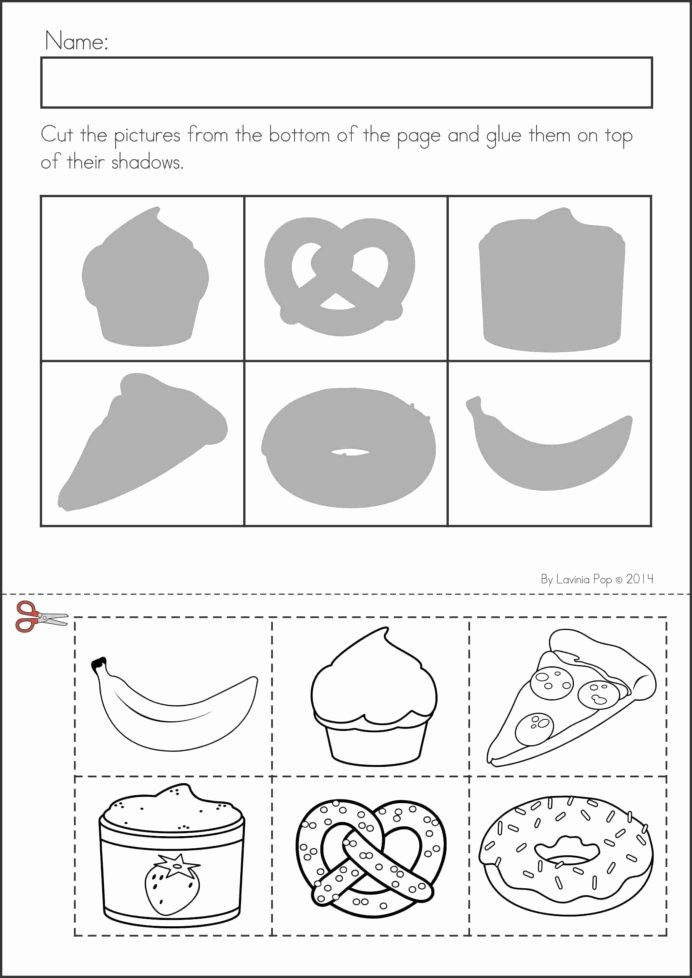 Pre K Printable Cutting Worksheets for Preschoolers Lovely Back to School Math Amp Literacy Worksheets and Activities