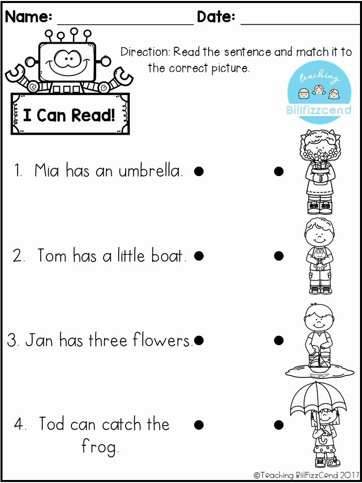 Pre Reading Worksheets for Preschoolers Fresh Free Reading Prehension Check Worksheets Pre Literacy