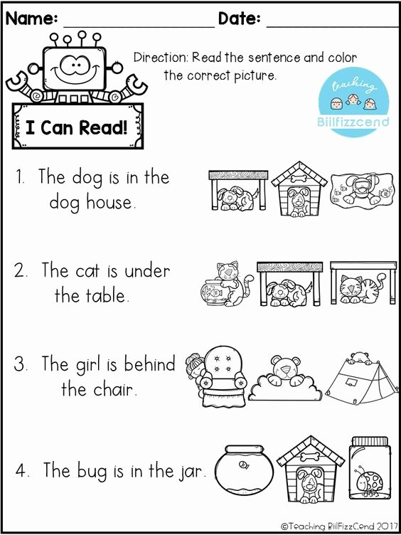 Pre Reading Worksheets for Preschoolers Inspirational Free Reading Prehension Check