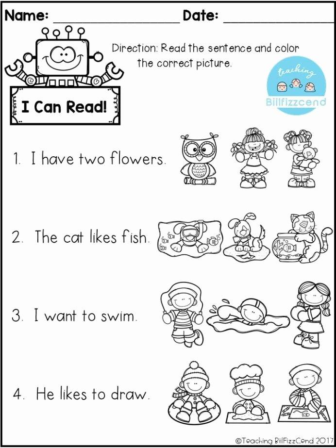 Pre Reading Worksheets for Preschoolers top Free Reading Prehension Check Kindergarten Pre Worksheets