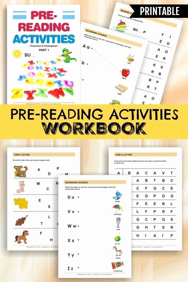 Pre Reading Worksheets for Preschoolers top Pre Reading Activities Printable Workbook for Preschoolers