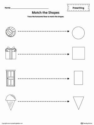 Shapes Line Tracing Prewriting Worksheet