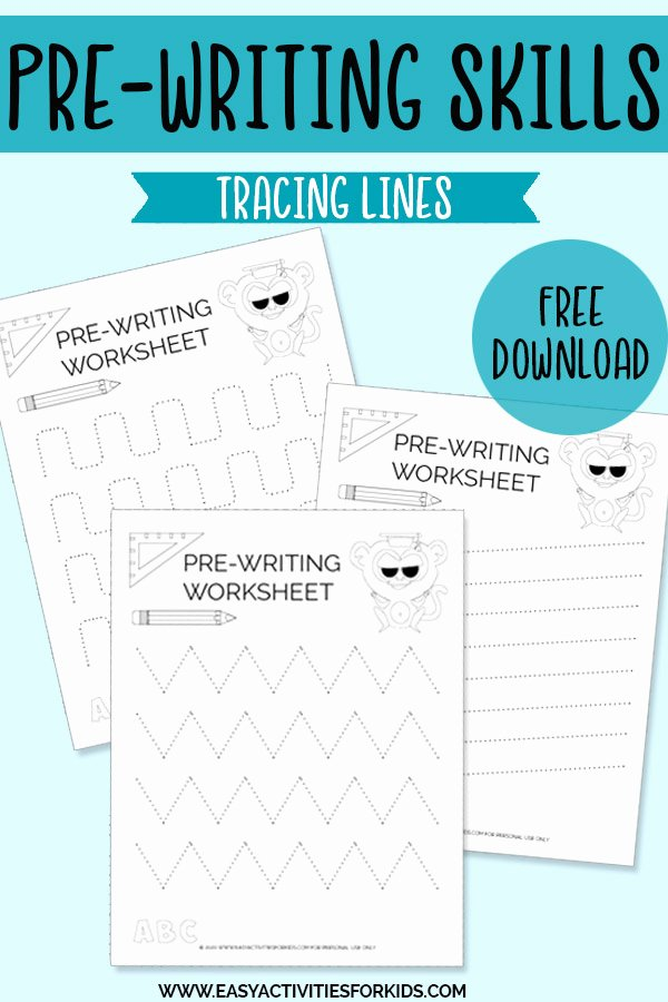 Pre Writing Worksheets for Preschoolers Unique 3 Free Pre Writing Worksheet for Preschoolers Easy
