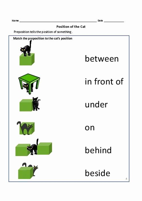 Preposition Worksheets for Preschoolers Awesome Prepositions Of Place for Kıds 3