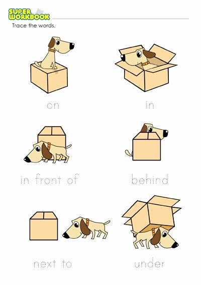 Preposition Worksheets for Preschoolers Best Of Prepositions Place Worksheet