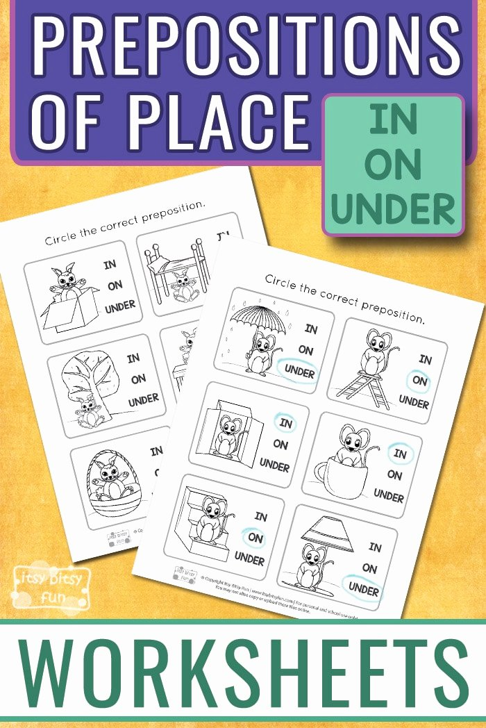 Preposition Worksheets for Preschoolers Best Of Prepositions Worksheets Itsybitsyfun