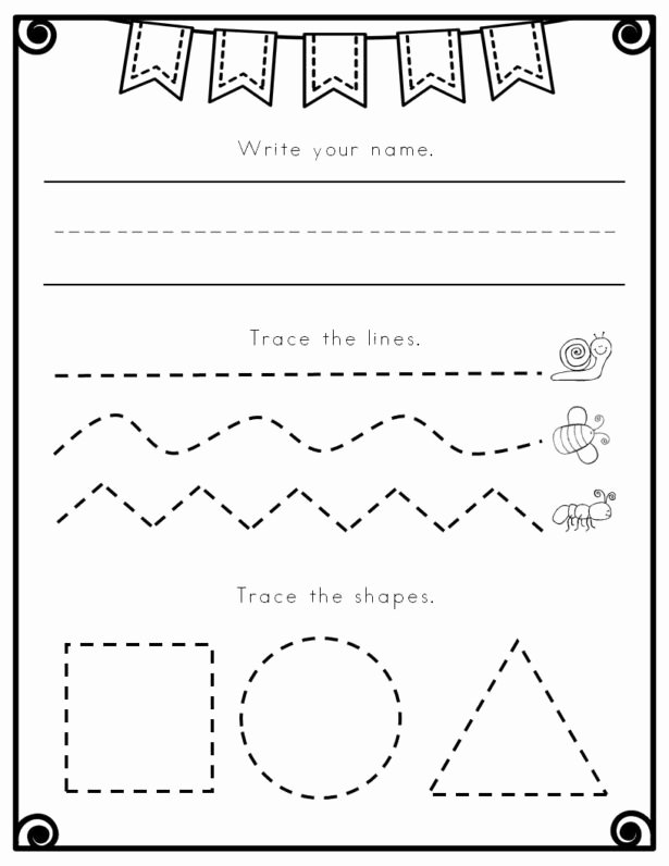 Prewriting Worksheets for Preschoolers Best Of Worksheets Pre K Writing Worksheets Tracing Letters for
