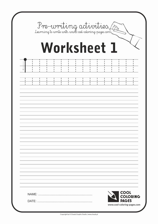 Prewriting Worksheets for Preschoolers Fresh Worksheet Preschool Handwritin S Cool Coloring Pages Pre