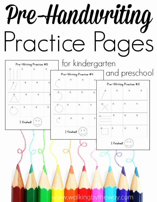Prewriting Worksheets for Preschoolers New Pre Writing Pages for Preschool and Kindergarten Walking