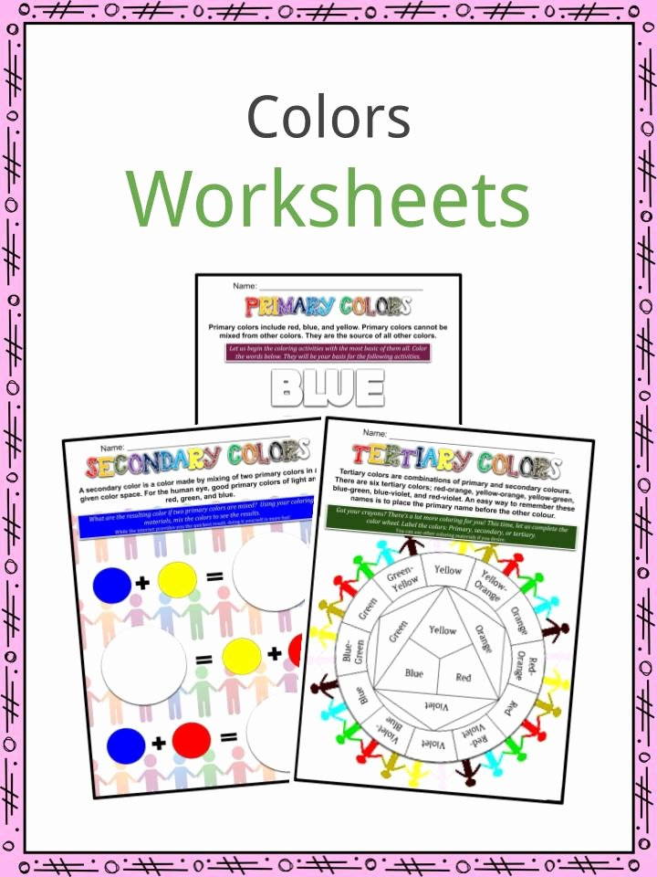 Primary Colors Worksheets for Preschoolers Beautiful Colors Facts Worksheets Colorful Colors & Psychology Of