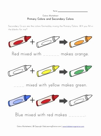 Primary Colors Worksheets for Preschoolers Beautiful Primary and Secondary Colors Worksheet